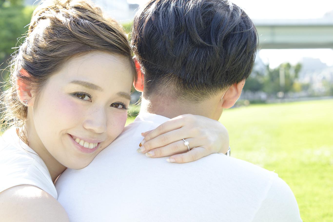 *エンゲージメントフォト*中之島で結婚式用の前撮り撮影