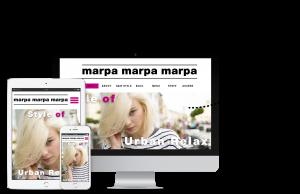 神戸三宮の美容室マルパマーパマーパのホームページデバイスごとの表示イメージ