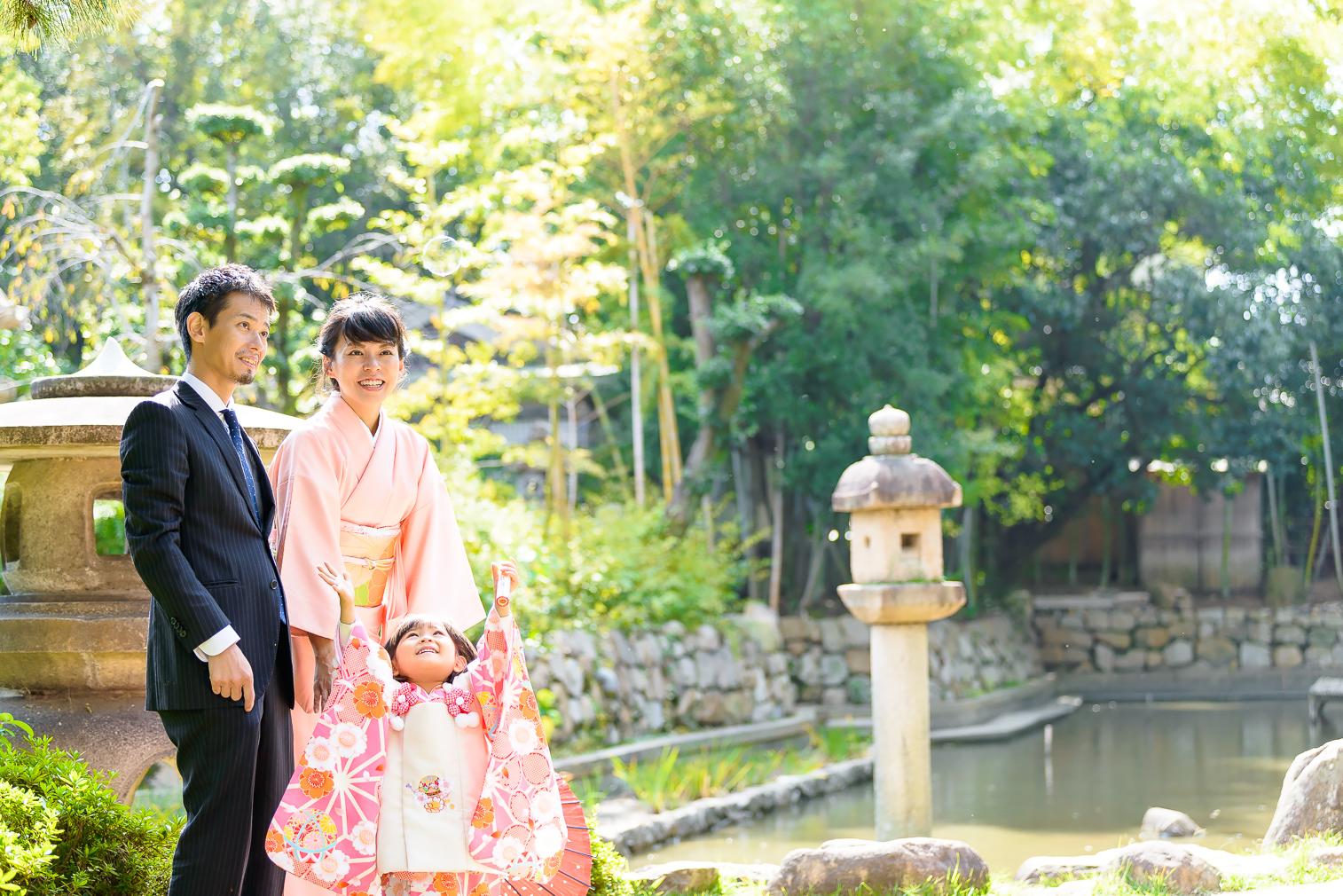 初めての七五三!!3歳女の子の神社ロケーション撮影!!@西宮神社