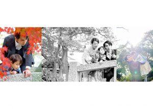 出張撮影・お外スタジオ・結婚式撮影・ホームページ制作・グラフィックデザイン制作・アルバムデザイン制作を西宮・神戸・大阪・芦屋・宝塚中心に行っているLighthouse PhotoのデザインアルバムSOFTBOOKサンプル七五三のアルバム05