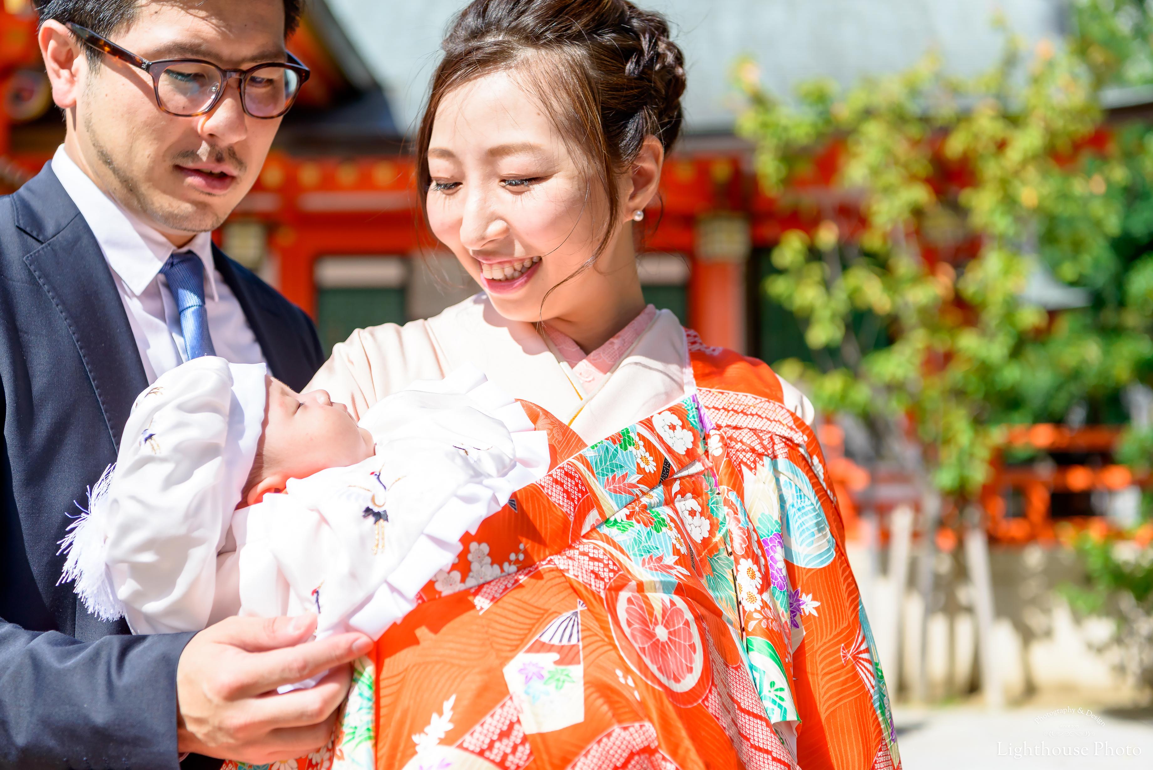 ふんわり明るい生田神社でお宮参り-1