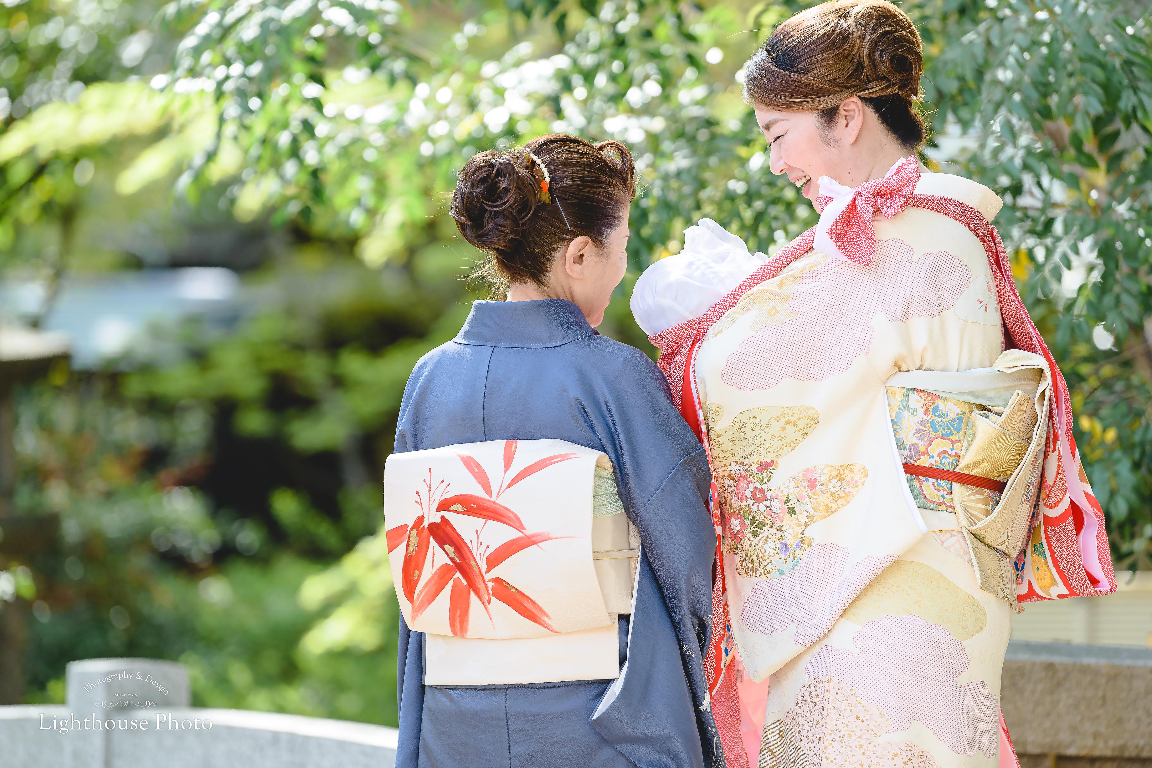 お宮参りのロケーションフォトを桜と一緒に@生田神社-1